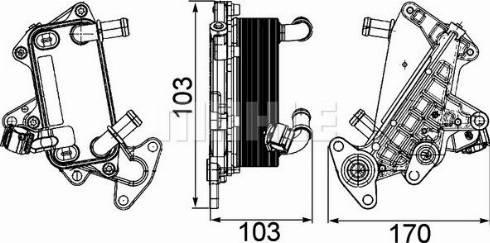 Mahle Original CLC25000P - Масляный радиатор, автоматическая коробка передач autodif.ru