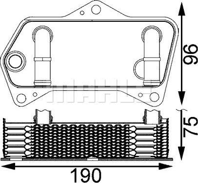 Mahle Original CLC202000S - Масляный радиатор, автоматическая коробка передач autodif.ru