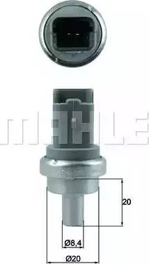 Mahle Original TSE 9 - Датчик, температура охлаждающей жидкости autodif.ru