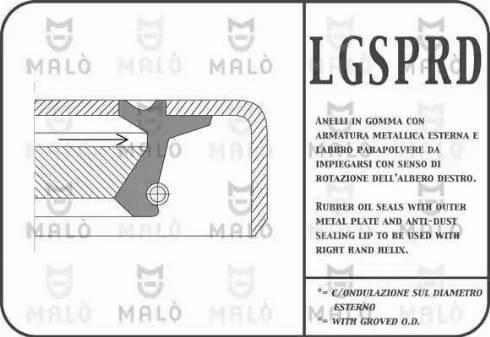 Malò 13509PRDA - Уплотняющее кольцо, дифференциал autodif.ru