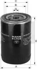 Mann-Filter W7124 - Фильтр, Гидравлическая система привода рабочего оборудования autodif.ru