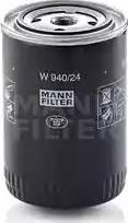 Mann-Filter W 940/24 - Фильтр, Гидравлическая система привода рабочего оборудования autodif.ru