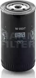 Mann-Filter W 950/7 - Фильтр, Гидравлическая система привода рабочего оборудования autodif.ru