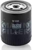 Mann-Filter W930 - Фильтр, Гидравлическая система привода рабочего оборудования autodif.ru