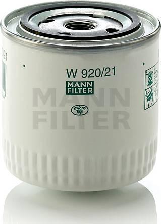Mann-Filter W 920/21 (10) - Фильтр, Гидравлическая система привода рабочего оборудования autodif.ru