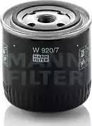 Mann-Filter W9207 - Фильтр, Гидравлическая система привода рабочего оборудования autodif.ru