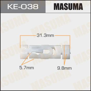 MASUMA KE038 - Зажим, молдинг / защитная накладка autodif.ru