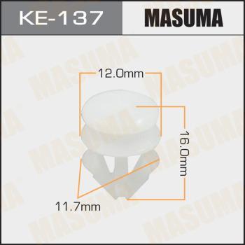 MASUMA KE137 - Зажим, молдинг / защитная накладка autodif.ru