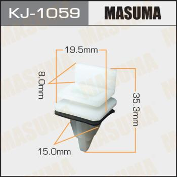 MASUMA KJ1059 - Зажим, молдинг / защитная накладка autodif.ru