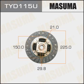 MASUMA TYD115U - Комплект сцепления autodif.ru