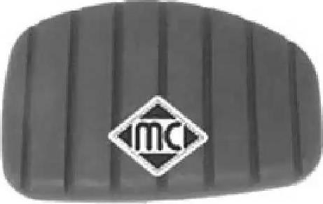 Metalcaucho 04717 - Педальные накладка, педаль тормоз autodif.ru