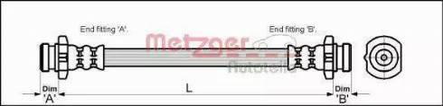 Metzger 4110041 - Тормозной шланг autodif.ru