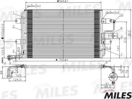 Miles ACCB019 - Конденсатор, кондиционер autodif.ru