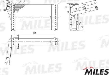 Miles ACHM003 - Теплообменник, отопление салона autodif.ru