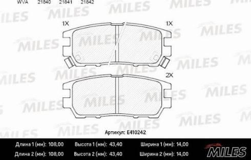 Miles E410242 - Комплект сцепления autodif.ru