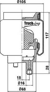 Montcada 0194850 - Баллон пневматической рессоры, крепление кабины autodif.ru