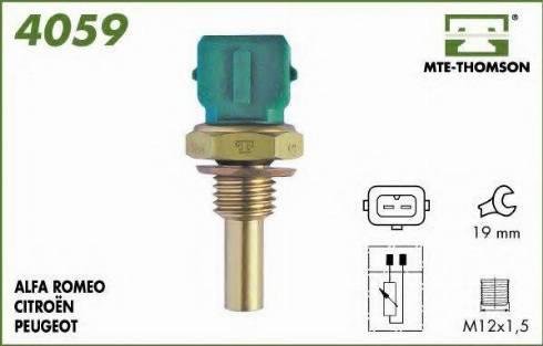 MTE-Thomson 4059 - Датчик, температура охлаждающей жидкости autodif.ru