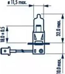 Narva 48321 - Лампа накаливания, фара с авт. системой стабилизации autodif.ru