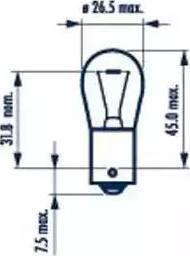 Narva 17649 - Лампа накаливания, фонарь указателя поворота autodif.ru