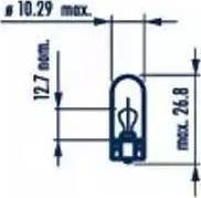 Narva 17059 - Лампа накаливания, страховочное освещение двери autodif.ru