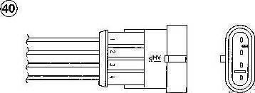 NGK 94221 - Лямбда-зонд autodif.ru