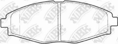 NiBK PN0390 - Комплект тормозных колодок, дисковый тормоз autodif.ru