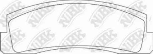 NiBK PN0230 - Комплект тормозных колодок, дисковый тормоз autodif.ru