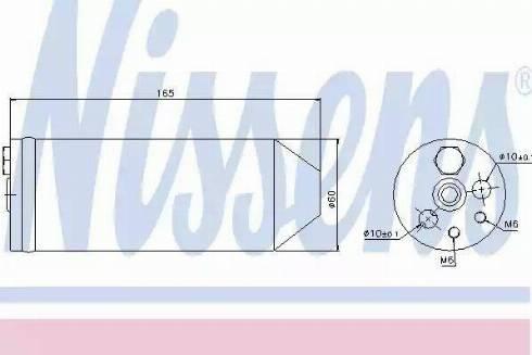 Nissens 95070 - Осушитель, кондиционер autodif.ru
