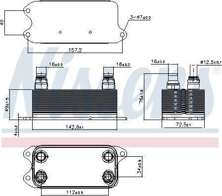 Nissens 90909 - Масляный радиатор, автоматическая коробка передач autodif.ru