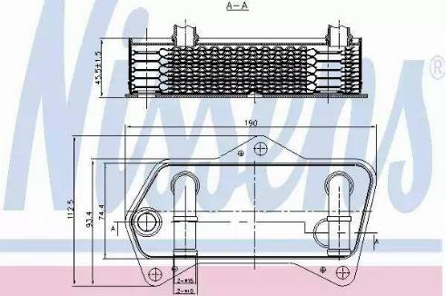 Nissens 90653 - Масляный радиатор, автоматическая коробка передач autodif.ru