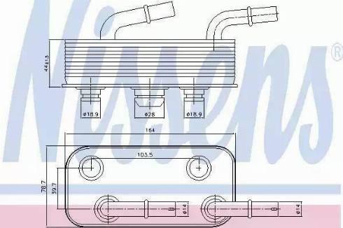 Nissens 90657 - Масляный радиатор, автоматическая коробка передач autodif.ru