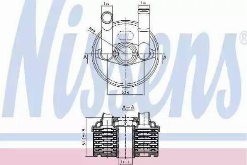 Nissens 90666 - Масляный радиатор, автоматическая коробка передач autodif.ru