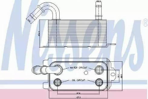Nissens 90661 - Масляный радиатор, автоматическая коробка передач autodif.ru