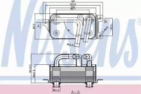Nissens 90623 - Масляный радиатор, автоматическая коробка передач autodif.ru