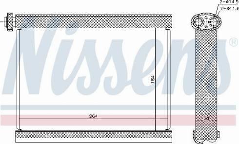 Nissens 92317 - Испаритель, кондиционер autodif.ru