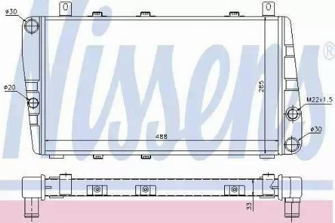 Nissens 64011 - Радиатор, охлаждение двигателя autodif.ru