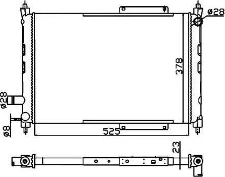 NRF 55326A - Радиатор, тяговый аккумулятор autodif.ru