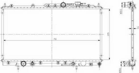 NRF 56078 - Радиатор, тяговый аккумулятор autodif.ru