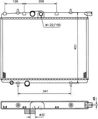 NRF 509525 - Радиатор, тяговый аккумулятор autodif.ru