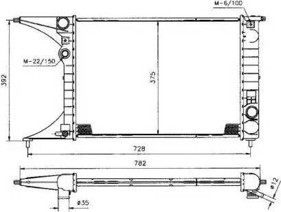 NRF 50222 - Радиатор, тяговый аккумулятор autodif.ru
