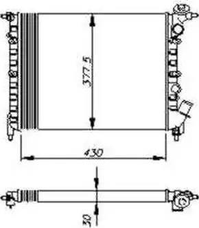 NRF 58207 - Радиатор, охлаждение двигателя autodif.ru