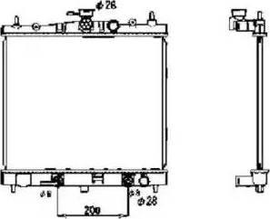 NRF 53477 - Радиатор, тяговый аккумулятор autodif.ru