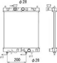 NRF 53571 - Радиатор, тяговый аккумулятор autodif.ru