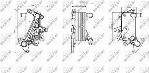 NRF 31357 - Масляный радиатор, автоматическая коробка передач autodif.ru