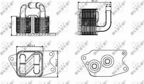 NRF 31265 - Масляный радиатор, автоматическая коробка передач autodif.ru