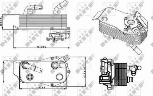 NRF 31279 - Масляный радиатор, автоматическая коробка передач autodif.ru