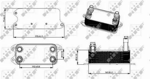 NRF 31275 - Масляный радиатор, автоматическая коробка передач autodif.ru
