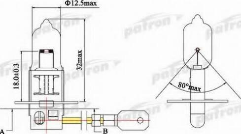 Patron PLH31255 - Лампа накаливания, фара с авт. системой стабилизации autodif.ru