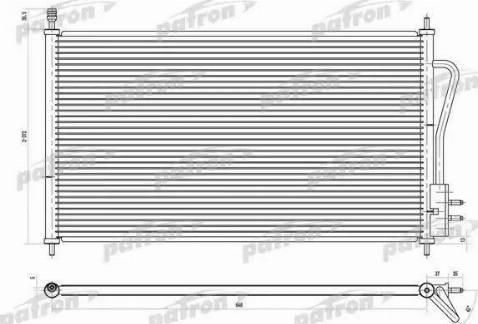 Patron PRS1103 - Конденсатор, кондиционер autodif.ru