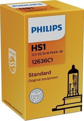 PHILIPS 12636C1 - Лампа накаливания, фара дальнего света autodif.ru
